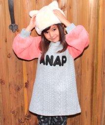 ANAP KIDS/袖ボアニット柄ワンピース/500656861