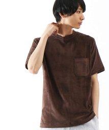 ABAHOUSE/COOL MODALパイルポケットTシャツ/500663649