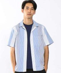 ABAHOUSE/ストライプオープンカラーシャツ/500663922