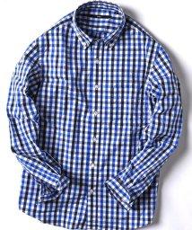 SHIPS MEN/SC: ドビー織り ギンガムチェック ボタンダウン シャツ/500665275