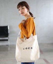 coen/【2018SS新作 Largeサイズ】coen2WAYロゴトートバッグ/500666691