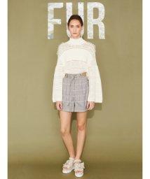 FURFUR/透かし編み&編み込みセーター/500666761