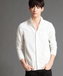 NICOLE CLUB FOR MEN/イタリアンカラーカットシャツ/500651702