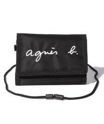 agnes b. ENFANT/GL11 E PORTEFEUILLE ロゴ刺繍 パスケース/財布/500658714