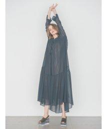 emmi atelier/【emmi atelier】シアーシャツワンピース/500672481