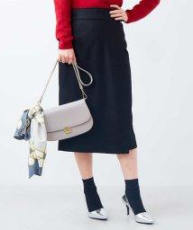 ELLE/ベルト付きラップデザインスカート/500657228