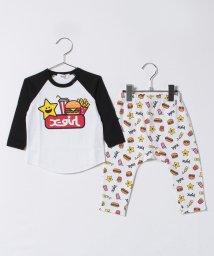 X-girl Stages/キラッキー&ファーストフード LSスーツセット/500658396