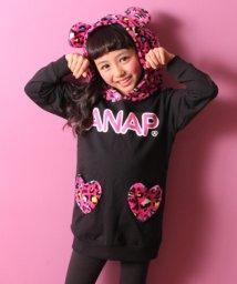 ANAP KIDS/【セットアップ対応商品】カラフルヒョウ柄くま耳フード ワンピース/500662096