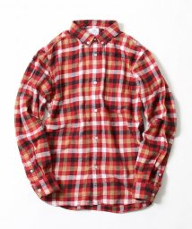 coen/ネルブロックチェックボタンダウンシャツ/500665498