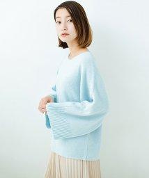 haco!/太め袖がかわいい横編みプルオーバーニット/500679626