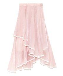 Lily Brown/裾パイピングイレヘムスカート/500679997