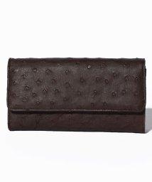 addy selection/【ostrich】オーストリッチ ハーフポイント かぶせ財布/500650258