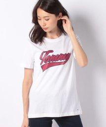 TOMMY HILFIGER WOMEN/コットンロゴTシャツ/500666326