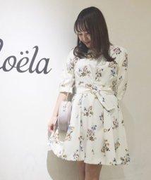 Noela/オリジナルスプリングフラワー柄ワンピ/500681602