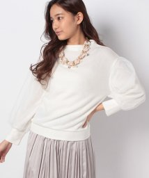 axes femme/ネックレス付き袖チュールPO/500669519