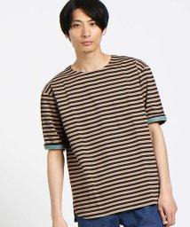 ABAHOUSE/【WEB別注】圧着ポンチボーダーポケットTシャツ/500684655