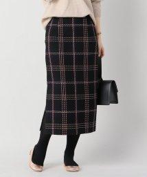 IENA/モールチェックタイトスカート/500691042