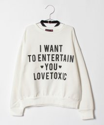 Lovetoxic/ロゴ入りビッグ裏毛トレーナー×チョーカーセット/500670736