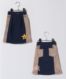X-girl Stages/ジョグデニム×ボア切り替えスカート/500679528