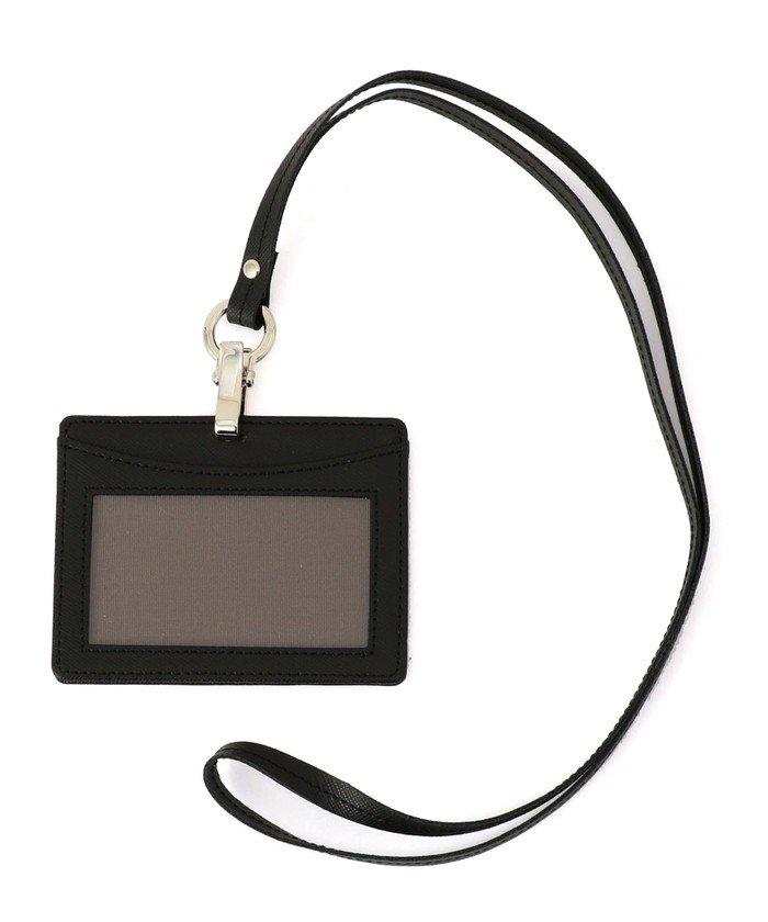 シップス SHIPS: イタリアンレザー IDケース メンズ ブラック ONESIZE 【SHIPS】