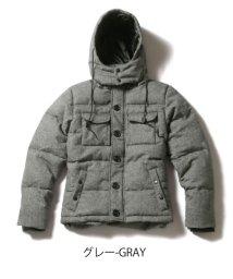 THE CASUAL/(スプ) SPU WOOL混ツイード中綿フードジャケット/500695196