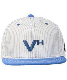 VIVA HEART/ビバハート/メンズ/メンズポリエステルストライプフラットブリムキャップ/500695266