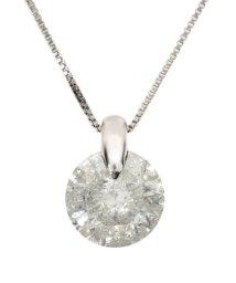 JEWELRY SELECTION/天然ダイヤモンド 1ctアップ ワンポイント留め プラチナネックレス/500696160