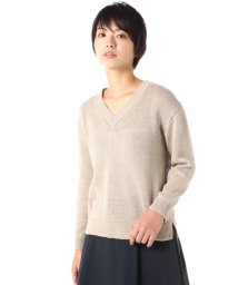 MARGARET HOWELL/RELAXED V NECK JUMPER/500698408