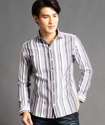 NICOLE CLUB FOR MEN/マルチストライプ柄ストレッチシャツ/500659275