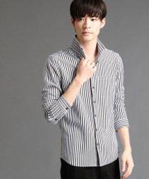 NICOLE CLUB FOR MEN/ストライプ柄長袖カットシャツ/500659280