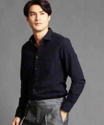 MONSIEUR NICOLE/ボタニカル柄セミワイドカラーシャツ/500689387