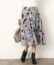 ViS/アートフラワーギャザースカート/500700756