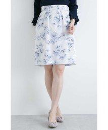 PROPORTION BODY DRESSING/ぼかしフラワープリントタイトスカート/500701623