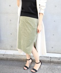 NOBLE/フェイクスウェードタイトスカート◆/500702419