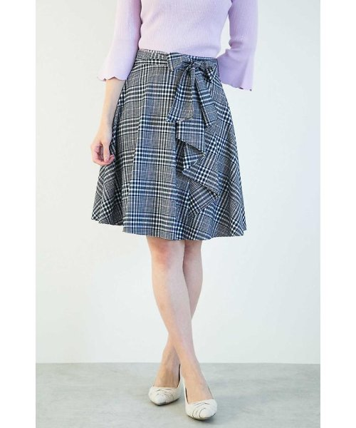 PROPORTION BODY DRESSING(プロポーション ボディドレッシング)/グレンチェックラッフルスカート/1218120202