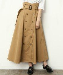 ViS/【ViS×高橋愛】トレンチスカート(フロントボタン)/500706162