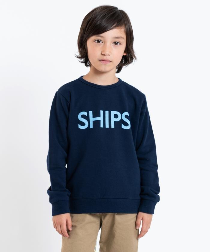 SHIPS KIDS:ロゴ スウェット(100〜130cm)