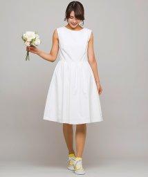 form forma/【結婚式・二次会・ウェディングドレス】グログラン シンプルフレアショートウェディングドレス/500697672