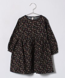 LAGOM/花柄プリント前開きワンピース/500698689