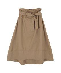 titivate/ウエストリボンバックゴムイレギュラーヘムスカート/500708584