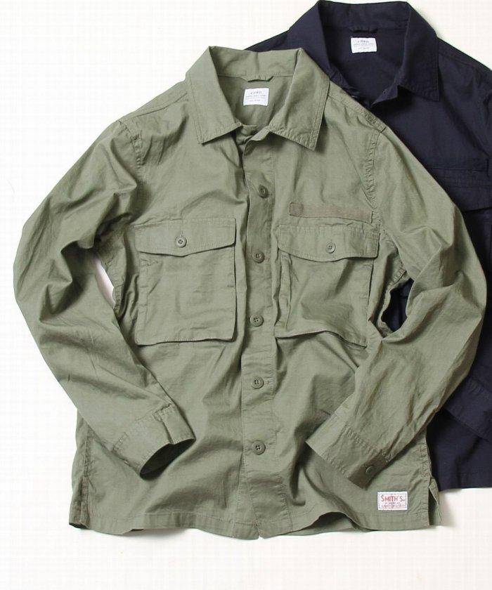 coen×SMITH:別注 ミリタリーシャツ 画像2