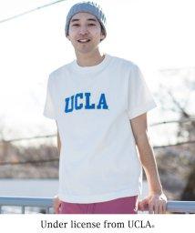coen/USAコットンカレッジプリントクルーネックTシャツ/500713503