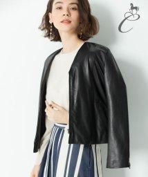 JIYU-KU /【Class Lounge】SPRING LAMB レザージャケット/500715737