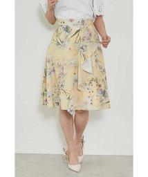 PROPORTION BODY DRESSING/◆アシメラッフルフラワープリントスカート/500704736
