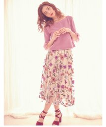 MIIA/チュール刺繍スカート/500716990