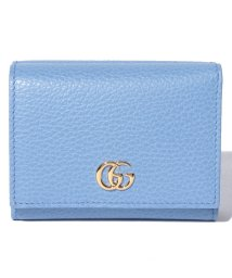 Piccola Donna/【GUCCI】プチ マーモント /  三つ折りウォレット 【CLEAR SKY BLUE】/500705571