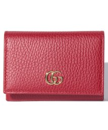 Piccola Donna/【GUCCI】プチ マーモント / カードケース 【HIBIS RED】/500705575