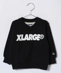 XLARGE KIDS/ロゴ入りバック切り替え裏毛トレーナー/500706352