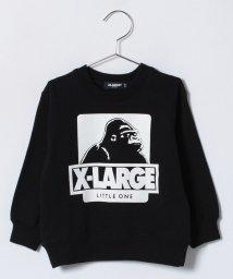 XLARGE KIDS/プリント入りクルーネック裏毛トレーナー/500706354