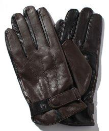 JNSJNM/3Dレザーボタン付き手袋/500707814